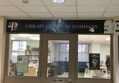 Spp Library Sign